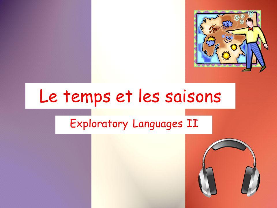 Le temps et les saisons Exploratory Languages II