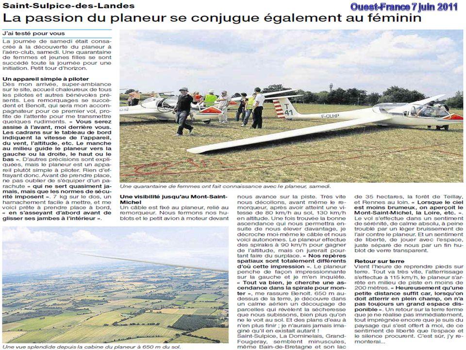 Planeurs dIlle-et-Vilaine 10 Constats Club dynamiqueClub dynamique, bonne insertion locale.