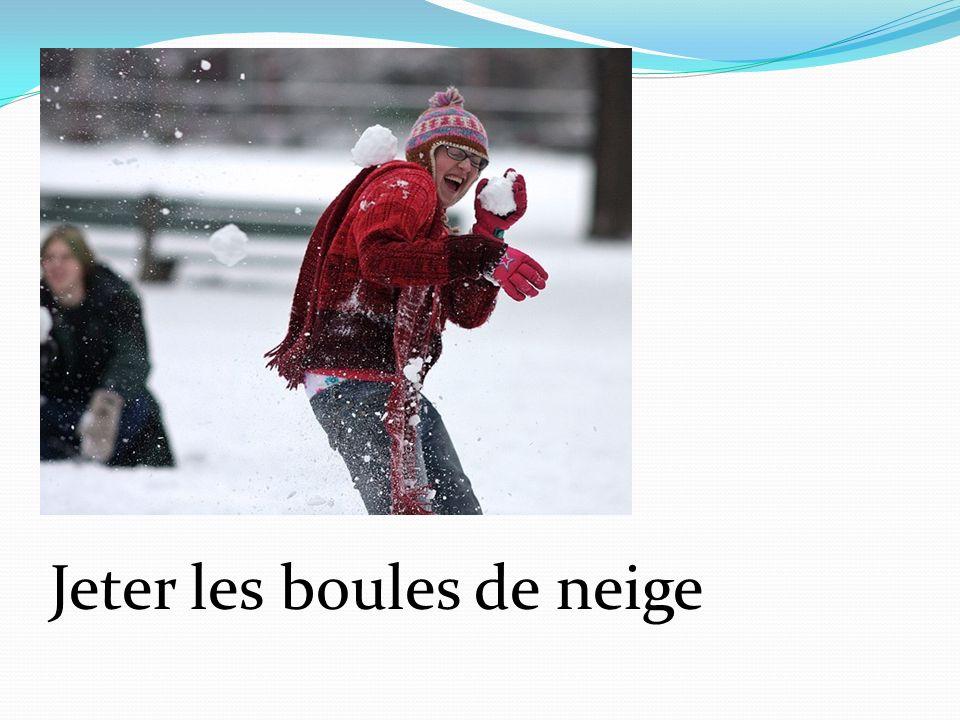 Jeter les boules de neige