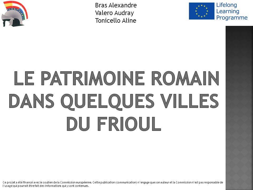 Bras Alexandre Valero Audray Tonicello Aline Ce projet a été financé avec le soutien de la Commission européenne. Cette publication (communication) ne