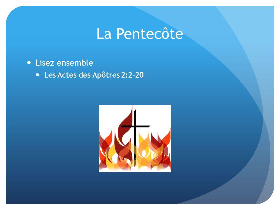 La Pentecôte Lisez ensemble Les Actes des Apôtres 2:2-20
