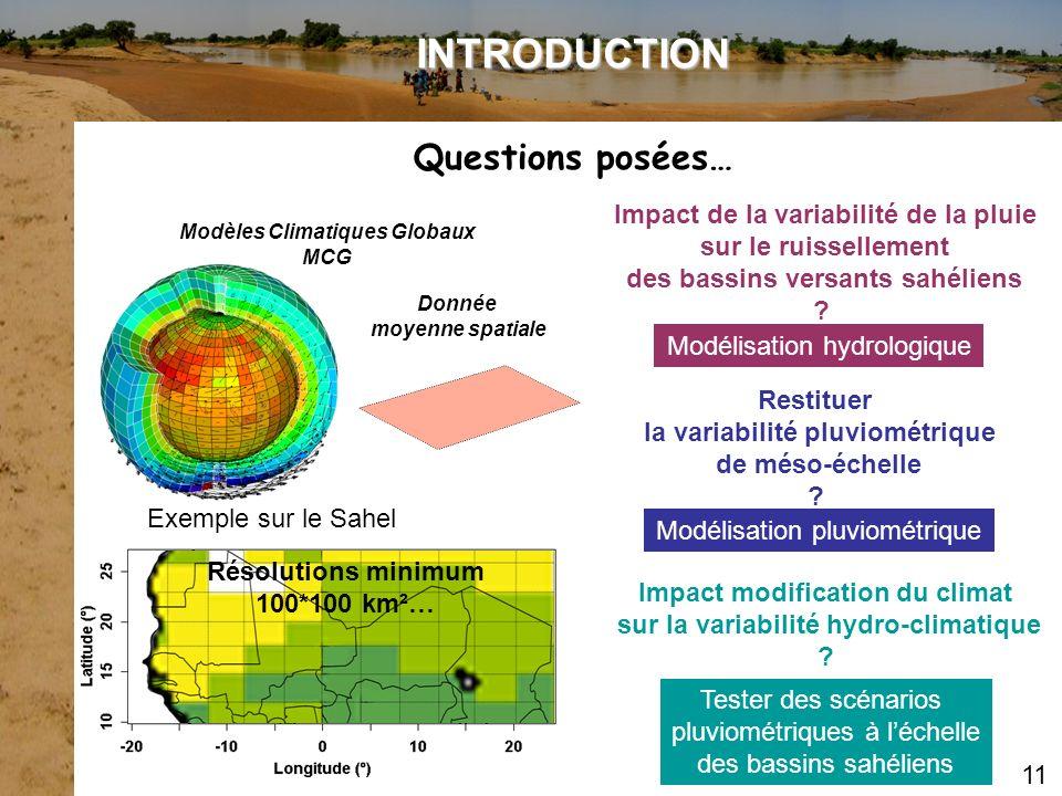 Impact de la variabilité de la pluie sur le ruissellement des bassins versants sahéliens ? Restituer la variabilité pluviométrique de méso-échelle ? I