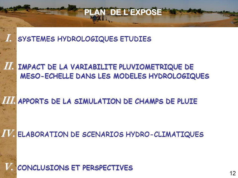 PLAN DE LEXPOSE II. IMPACT DE LA VARIABILITE PLUVIOMETRIQUE DE MESO-ECHELLE DANS LES MODELES HYDROLOGIQUES MESO-ECHELLE DANS LES MODELES HYDROLOGIQUES
