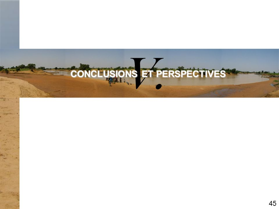 V. CONCLUSIONS ET PERSPECTIVES 45