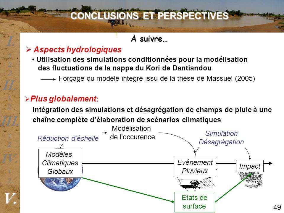 Utilisation des simulations conditionnées pour la modélisation des fluctuations de la nappe du Kori de Dantiandou Plus globalement : Intégration des s