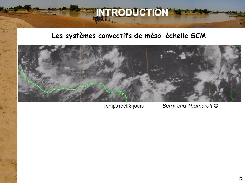 Mathon et al., 2001 5 Les systèmes convectifs de méso-échelle SCM INTRODUCTION Organisation en ligne de grain Image Radar du 20/08/1991 Aéroport de Niamey 300 km Systèmes convectifs organisés SCO: 12% du nombre des SCM 90% pluie au Sahel au coeur de la saison