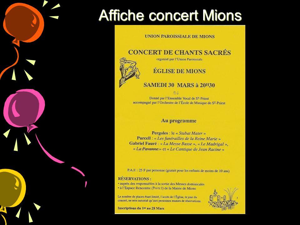 Affiche concert Mions