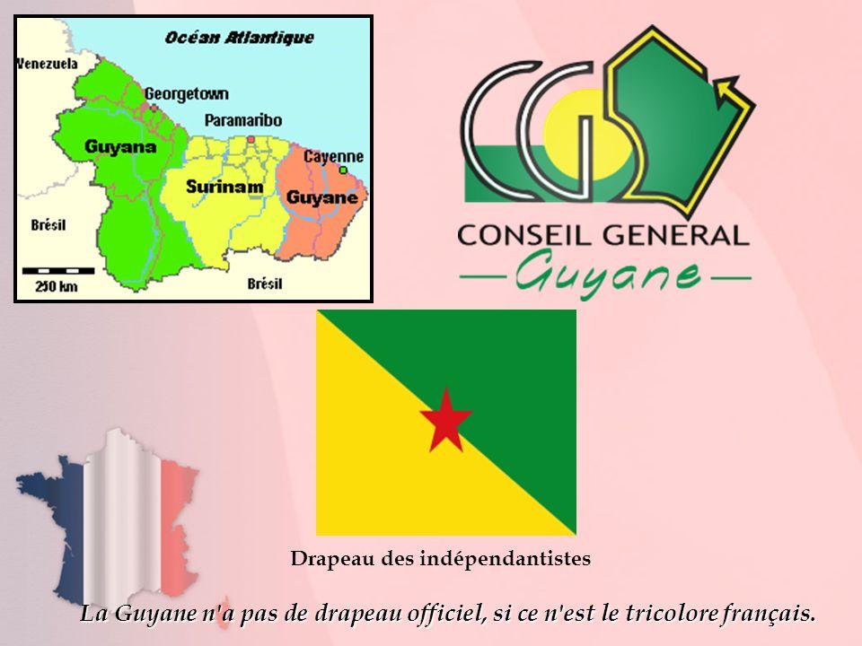 Drapeau des indépendantistes La Guyane n'a pas de drapeau officiel, si ce n'est le tricolore français.