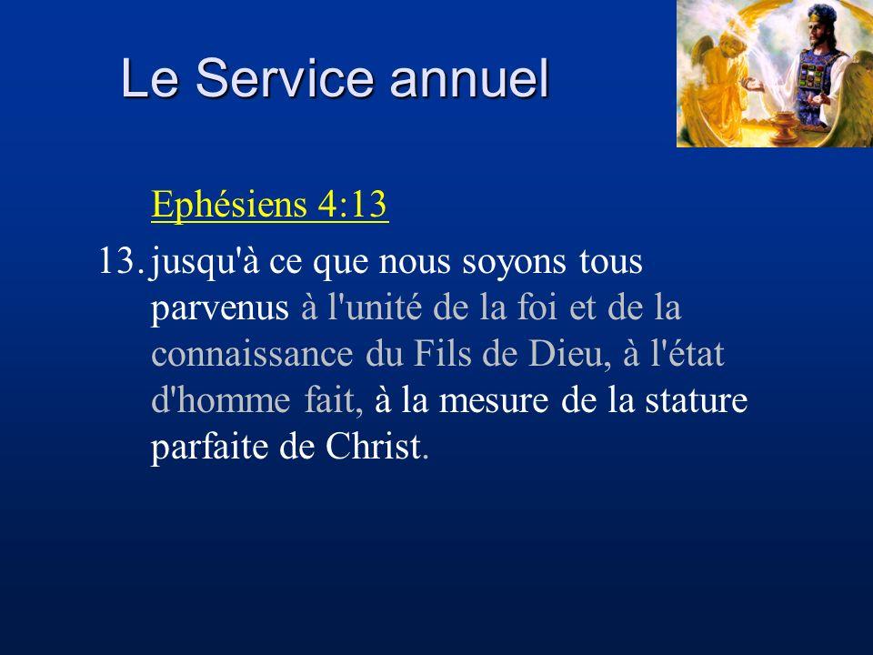 Ephésiens 4:13 13.jusqu'à ce que nous soyons tous parvenus à l'unité de la foi et de la connaissance du Fils de Dieu, à l'état d'homme fait, à la mesu