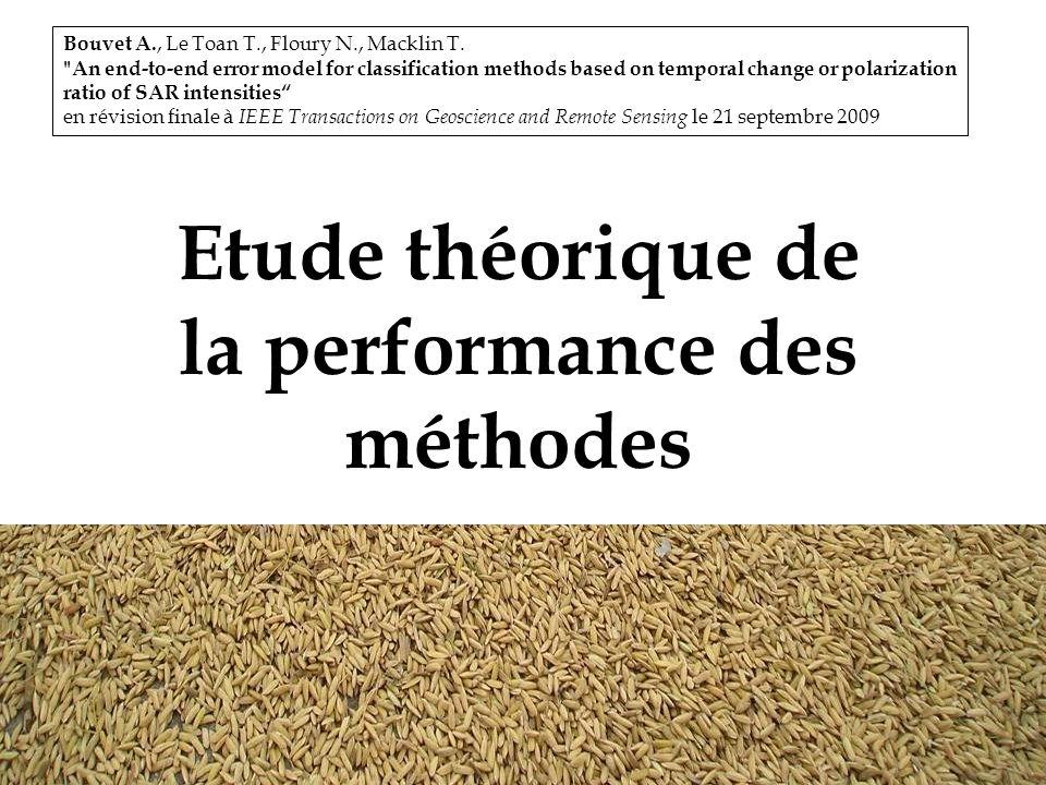 13 Etude théorique de la performance des méthodes Bouvet A., Le Toan T., Floury N., Macklin T.