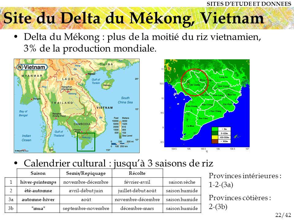 22/42 Delta du Mékong : plus de la moitié du riz vietnamien, 3% de la production mondiale.