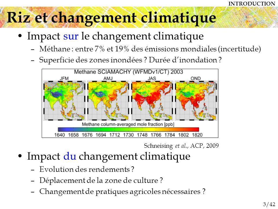 3/42 Impact sur le changement climatique –Méthane : entre 7% et 19% des émissions mondiales (incertitude) –Superficie des zones inondées .