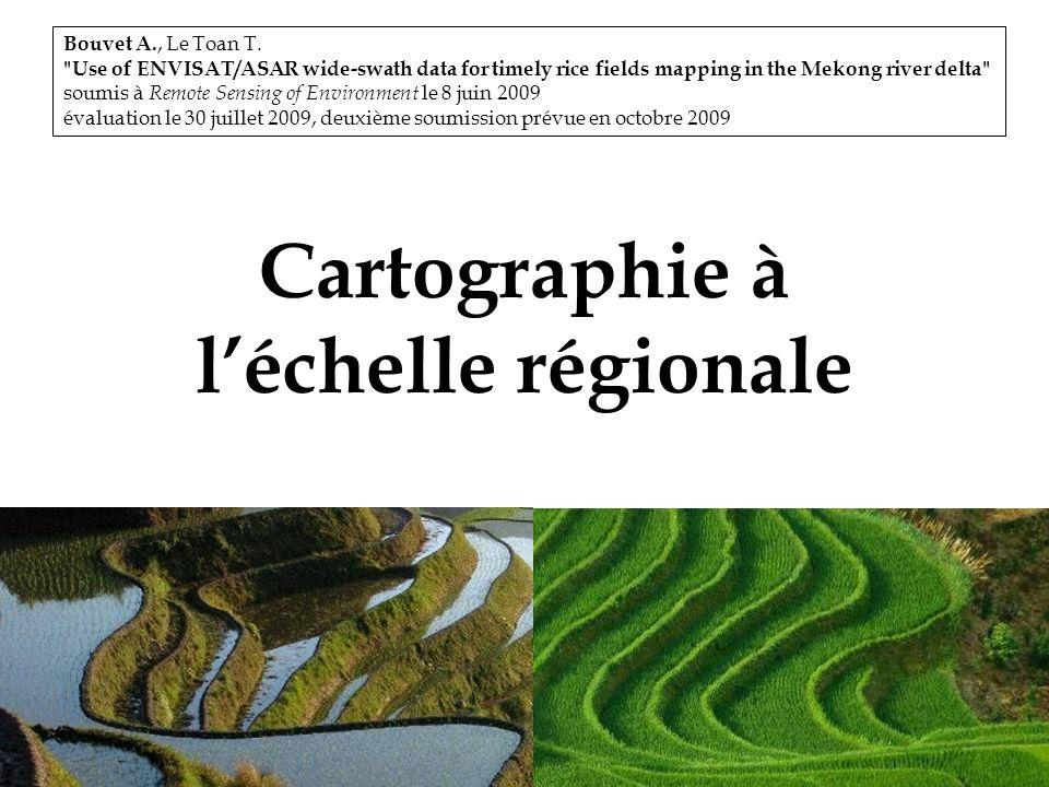 32 Cartographie à léchelle régionale Bouvet A., Le Toan T.