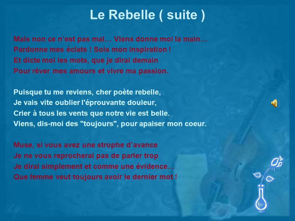 Ma Rose Bleue Duo : Ode et Paul-André Toi ma rose sur moi repose puise en moi lumière, foi...
