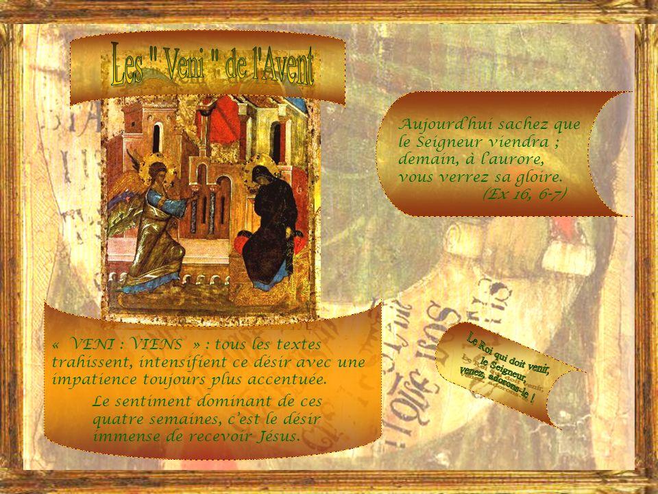 Cette période de lannée où nous entrons nest quune longue vigile, une vigile prolongée, vu limportance de la solennité de la Nativité du Sauveur, et ce temps de pénitence simpose dautant plus que, dans lhistoire religieuse du monde, on remarque le plan de la Providence préparant pendant des siècles la venue du Messie.