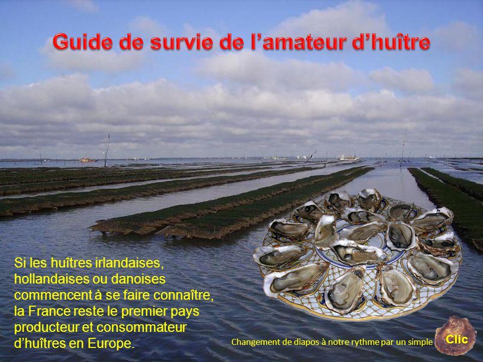 Si les huîtres irlandaises, hollandaises ou danoises commencent à se faire connaître, la France reste le premier pays producteur et consommateur dhuît