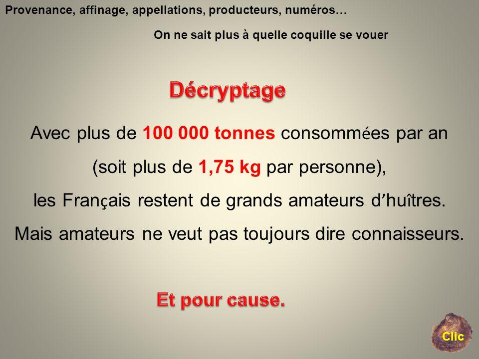 Provenance, affinage, appellations, producteurs, numéros… Avec plus de 100 000 tonnes consomm é es par an (soit plus de 1,75 kg par personne), les Fra