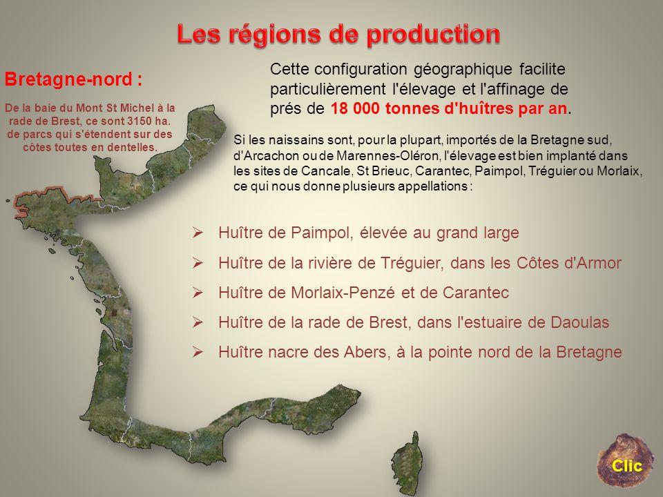 Bretagne-nord : De la baie du Mont St Michel à la rade de Brest, ce sont 3150 ha. de parcs qui s'étendent sur des côtes toutes en dentelles. Cette con