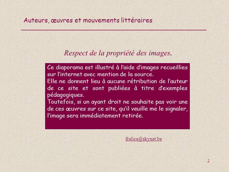 Auteurs, œuvres et mouvements littéraires 63 Cite une œuvre (ou un vers) de Paul Verlaine.