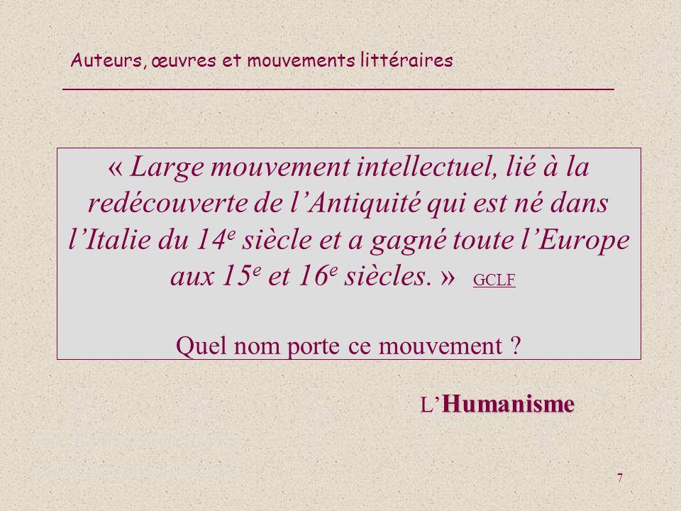 Auteurs, œuvres et mouvements littéraires 68 La caractéristique la plus pertinente du mouvement surréaliste est lexploration de l inconscient.