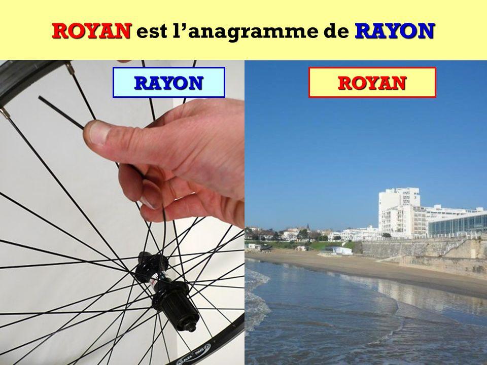 RAYON Quel est lanagramme de RAYON ?RAYON Cest une ville française !