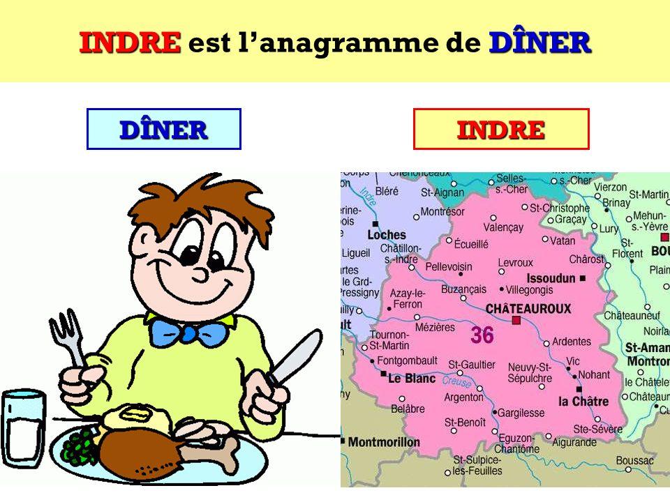 DÎNER Quel est lanagramme de DÎNER ? Cest un département français ! DÎNER