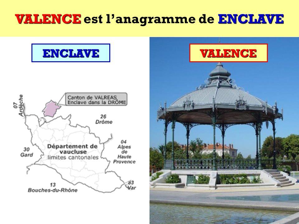 ENCLAVE Quel est lanagramme de ENCLAVE ? Cest une ville française ! ENCLAVE