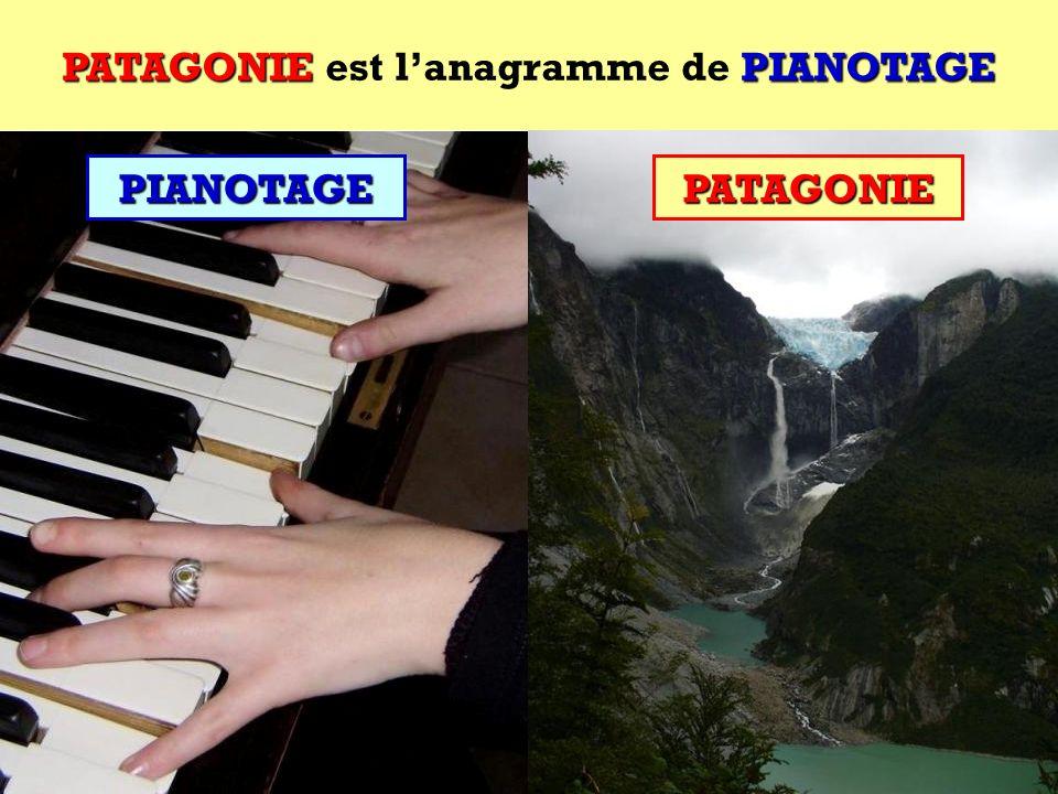 PIANOTAGE Quel est lanagramme de PIANOTAGE ? Cest une région dAmérique du Sud ! PIANOTAGE