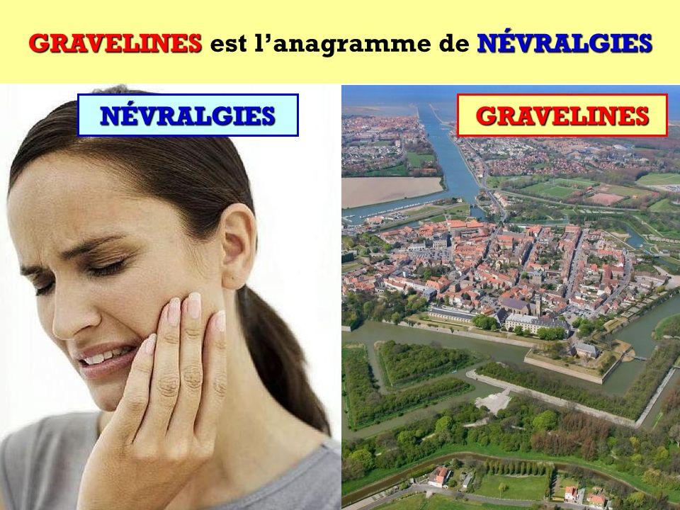 NÉVRALGIES Quel est lanagramme de NÉVRALGIES ? Cest une ville du Nord ! NÉVRALGIES