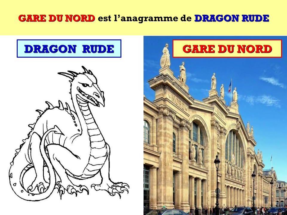 DRAGON RUDE Quel est lanagramme de DRAGON RUDE ? Cest un site parisien ! DRAGON RUDE
