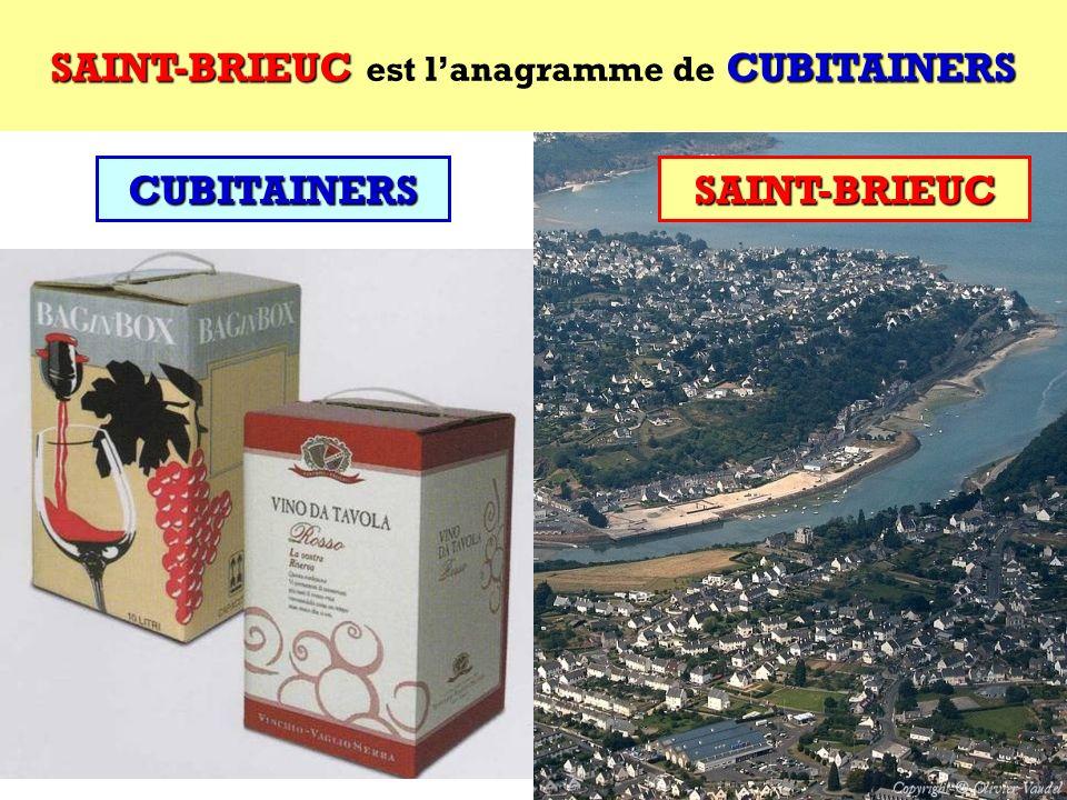 CUBITAINERS Quel est lanagramme de CUBITAINERS ? Cest une ville française ! CUBITAINERS