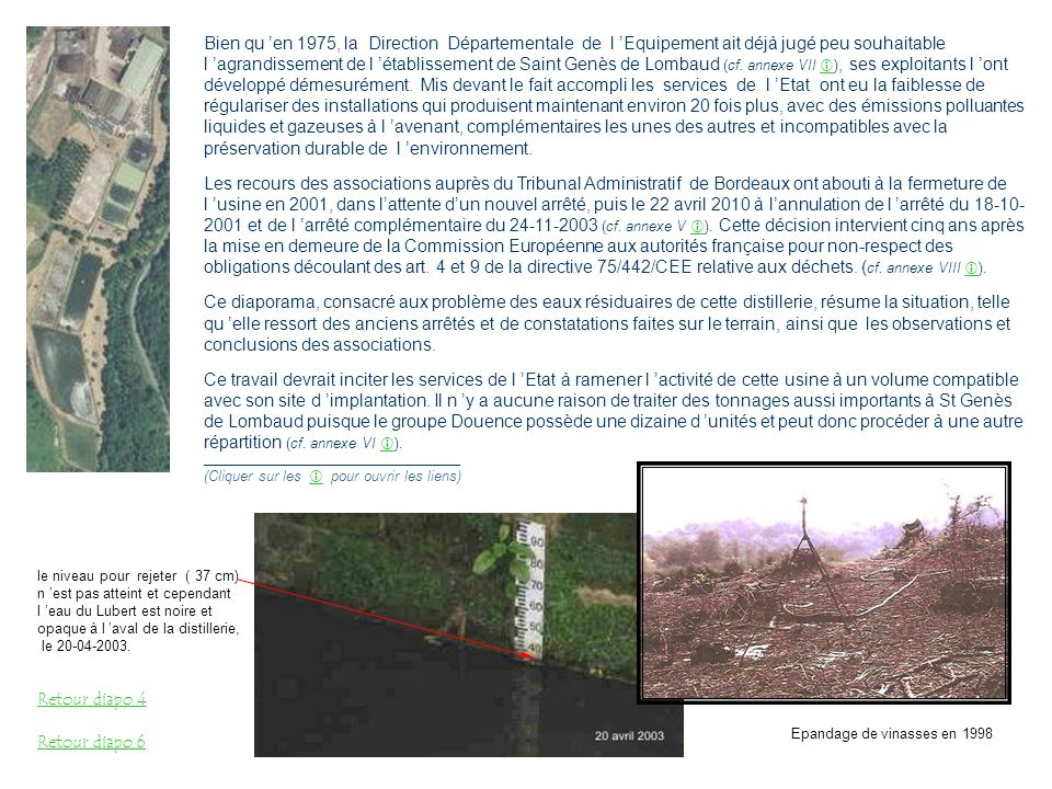 Arrêtés de reconnaissance de catastrophe naturelle Extrait du site Prim.net Encadrées en rouge, les inondations reconnues comme catastrophes naturelles depuis 1982 Commune où se situent les installations de traitement des eaux résiduaires