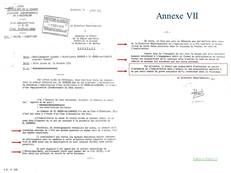 Annexe VII Retour diapo 2
