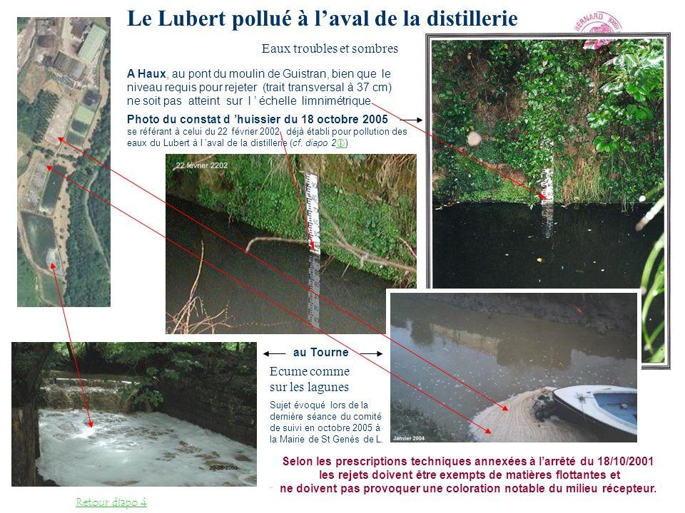 Le Ruisseau des Landes ( ou ruisseau de Degans) croise une lagune et en longe une autre de près juste avant son confluent avec le Lubert, à laval du système de régulation, ce qui n est pas réglementaire.