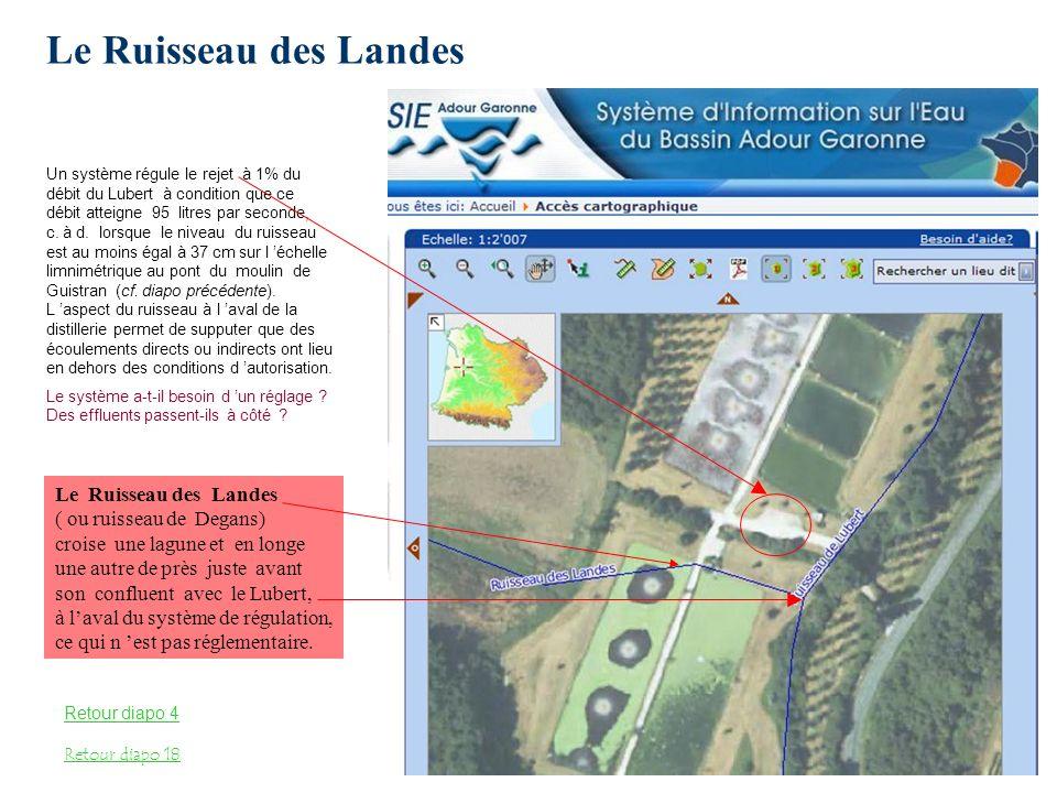 La distillerie est située en zone inondable L usine et les lagunes sont dans une zone de sensibilité aux inondations très forte à moyenne