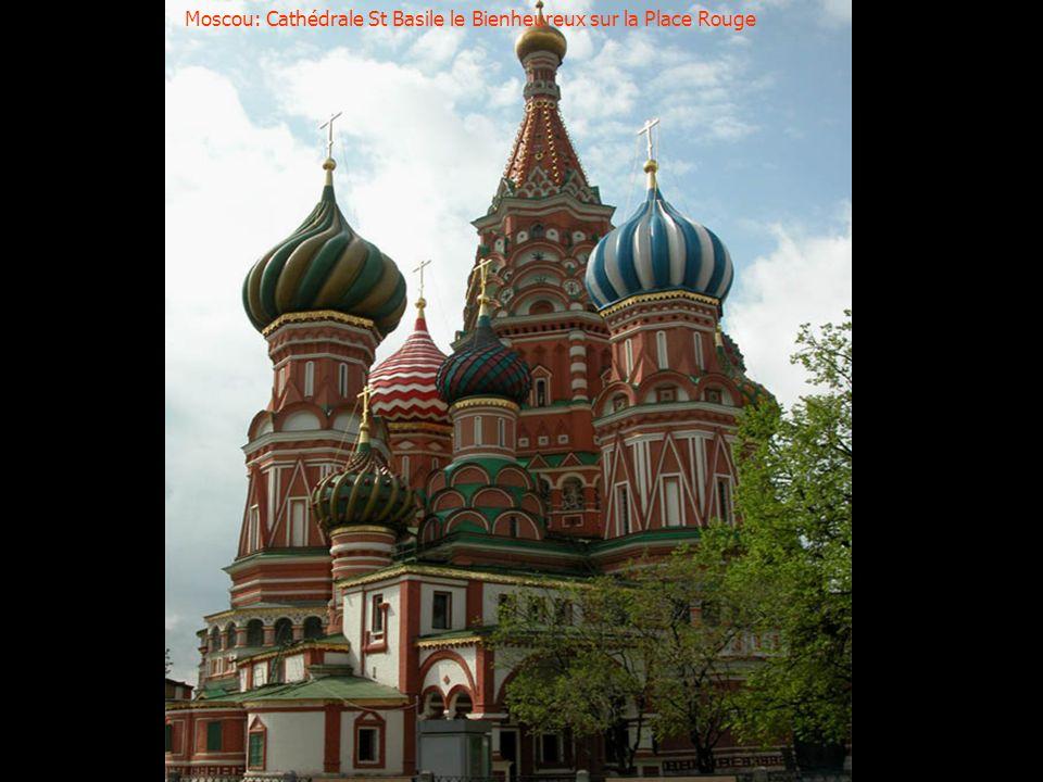 Moscou: Coupoles typiques déglises russes