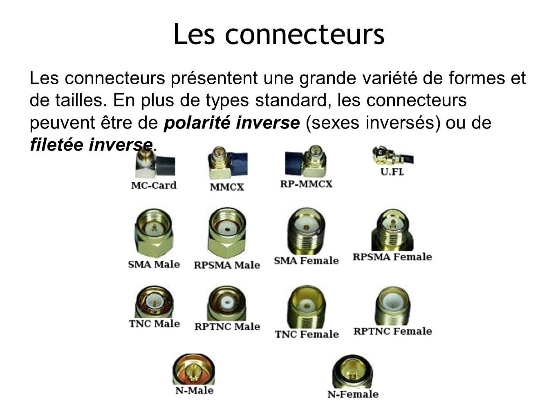 10 Les connecteurs Les connecteurs présentent une grande variété de formes et de tailles.