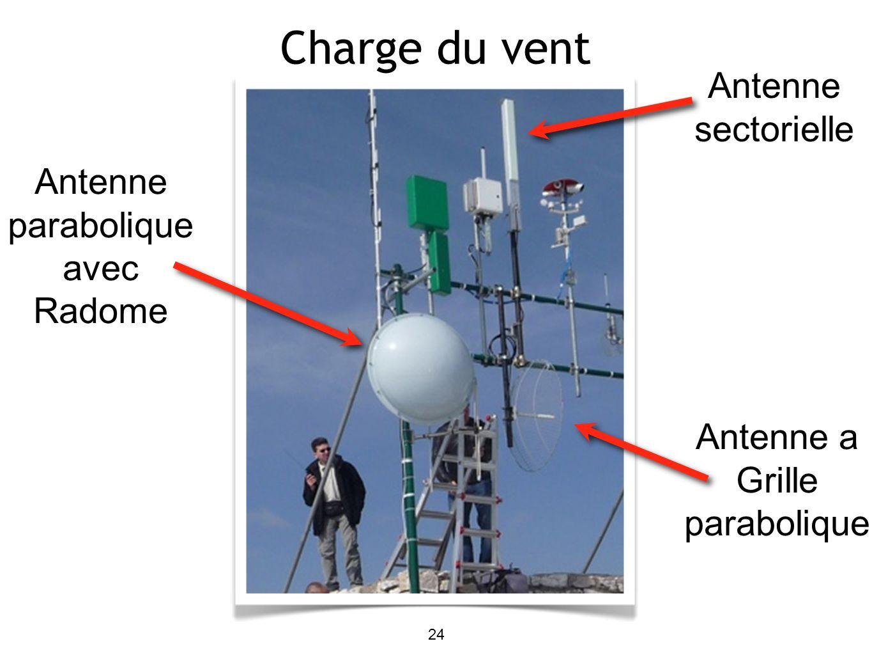 24 Antenne parabolique avec Radome Antenne a Grille parabolique Antenne sectorielle Charge du vent