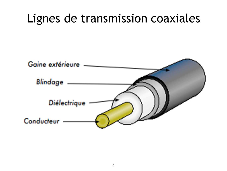 6 La perte (ou atténuation) d un câble coaxial dépend de la construction du câble et la fréquence de fonctionnement.