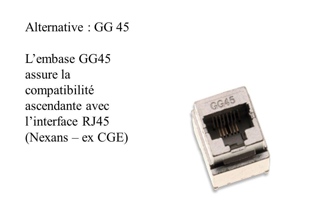 Alternative : GG 45 Lembase GG45 assure la compatibilité ascendante avec linterface RJ45 (Nexans – ex CGE)