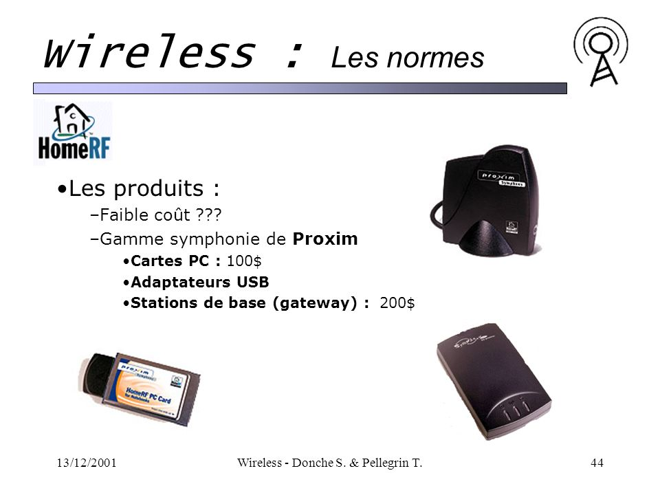 13/12/2001Wireless - Donche S.