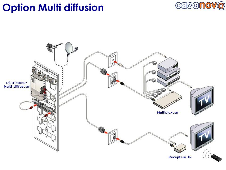 Option Multi diffusion Distributeur Multi diffuseur Multiplexeur Récepteur IR