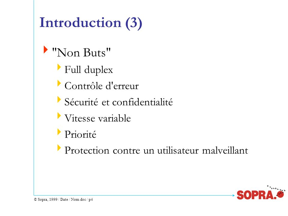 © Sopra, 1999 / Date / Nom doc / p4 Introduction (3)