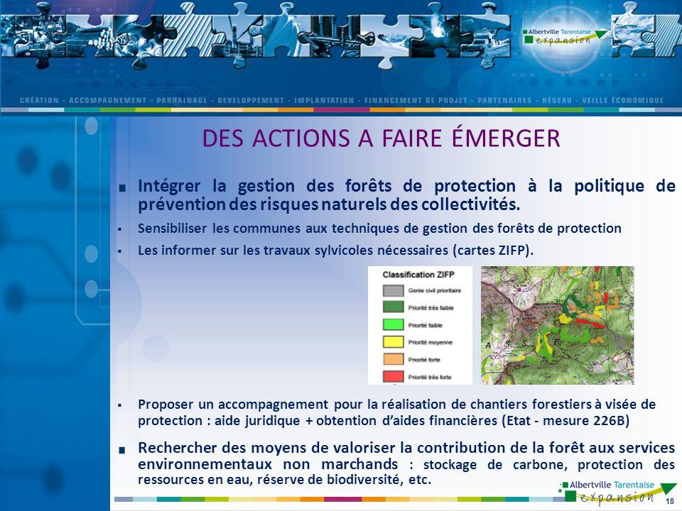 Intégrer la gestion des forêts de protection à la politique de prévention des risques naturels des collectivités.