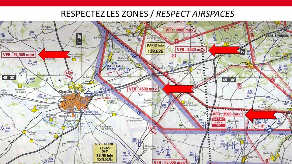 TOUT ESPACE CONTRÔLÉ DE CLASSE A ET D ANY CONTROLLED CLASS A & D AIRSPACE TOUTES ZONES P, ZIT ET ZRT ANY P(ROHIBITED), ZRT & ZIT AIRSPACE TOUS SECTEURS VÉLIVOLES ANY DEROGATORY GLIDING AIRSPACE UNE PARTIE DE CES ESPACES POURRA ÉVENTUELLEMENT ÊTRE AUTORISEE POUR UNE EPREUVE.