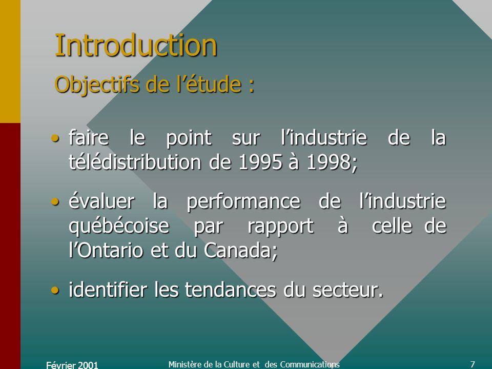 Février 2001 Ministère de la Culture et des Communications8