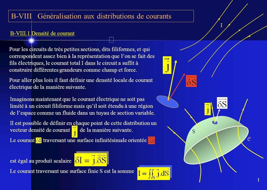 1 Imaginons maintenant que le courant électrique ne soit pas limité à un circuit filiforme mais quil soit étendu à une région de lespace comme un flui
