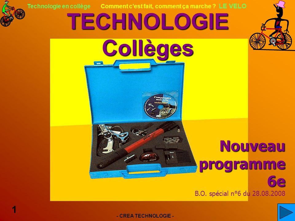 - CREA TECHNOLOGIE - 1 Technologie en collège Comment cest fait, comment ça marche .