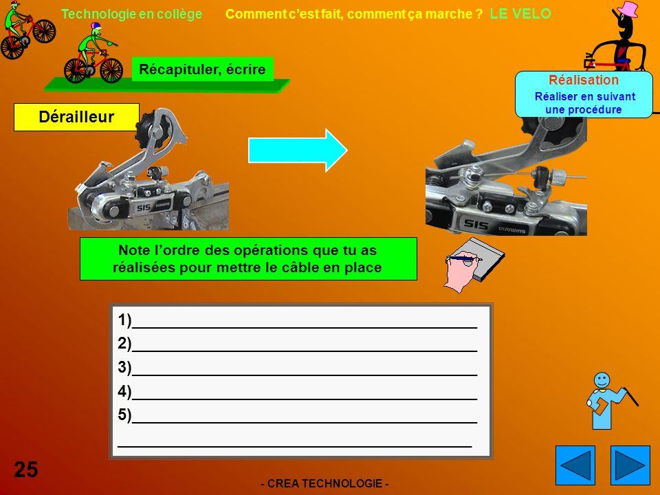 - CREA TECHNOLOGIE - 25 Technologie en collège Comment cest fait, comment ça marche .