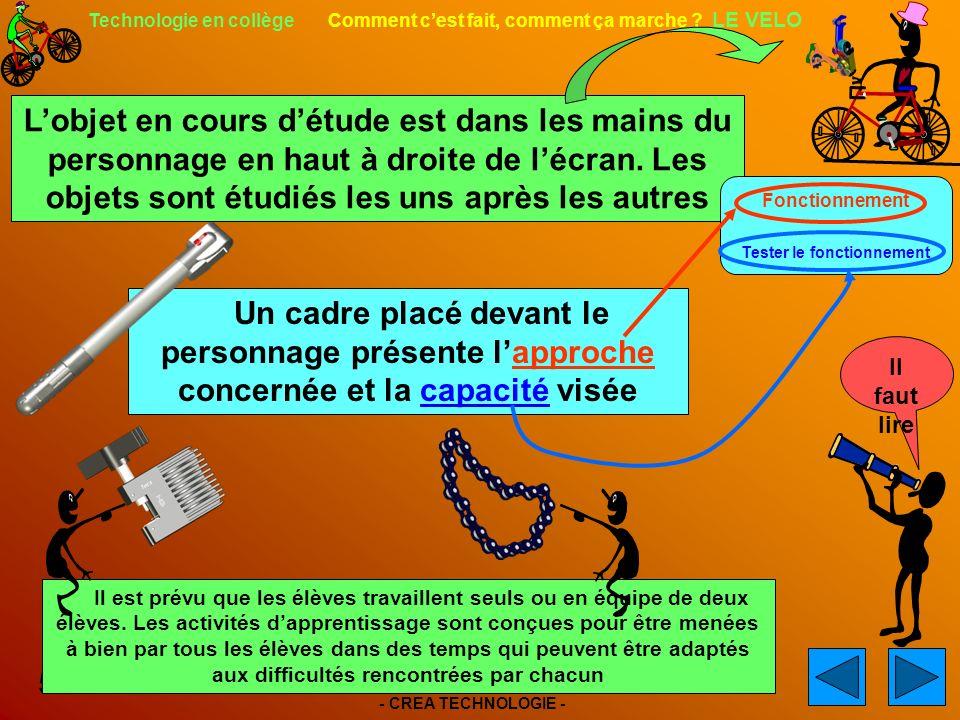 - CREA TECHNOLOGIE - 5 Technologie en collège Comment cest fait, comment ça marche .